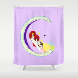 """A TO Z - """"C"""" Shower Curtain"""