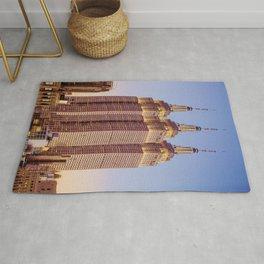 Empire State Building Surreal New York Skyline Rug