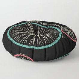 Cycling Forever | Penny Farthing High Wheel Floor Pillow