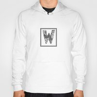 waldo Hoodies featuring Zentangle W Monogram Alphabet Illustration by Vermont Greetings