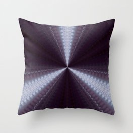 Strobe Lights On Deep Aubergine Throw Pillow