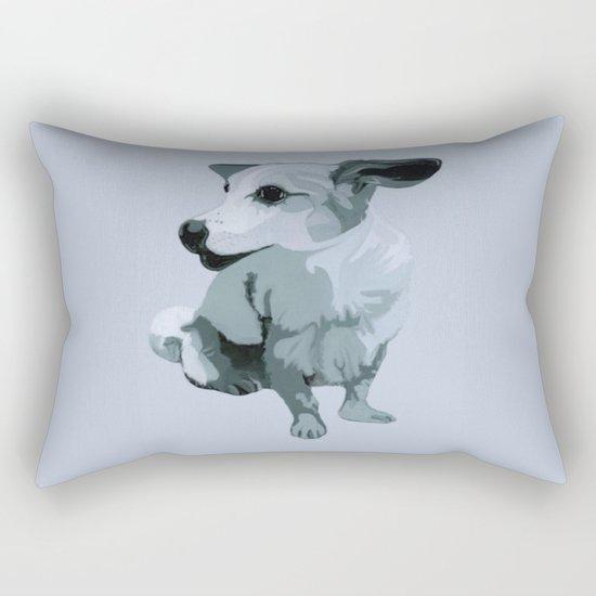 Linda dog Rectangular Pillow