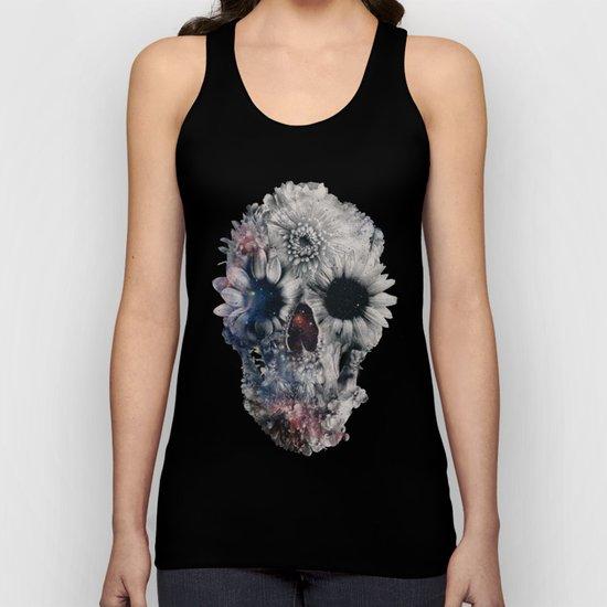 Floral Skull 2 Unisex Tank Top