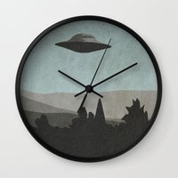 sagan Wall Clocks featuring I Want to Know by Ed Burczyk