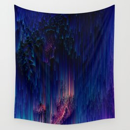 Glitch of Fantasy - Abstract Pixel Art Wall Tapestry