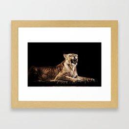 Roaring Lion Framed Art Print