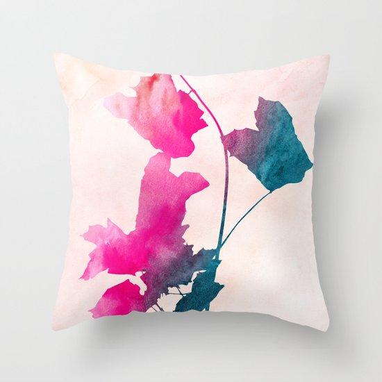 maple 1 watercolor by Jacqueline Maldonado & Garima Dhawan Throw Pillow