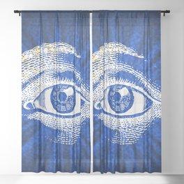 Shining Eye Retro Pattern Sheer Curtain