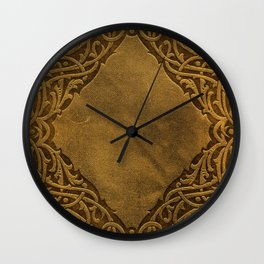 Vintage Ornamental Book Cover Wall Clock