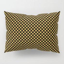 Black and Golden Rod Polka Dots Pillow Sham