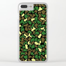 Camouflage Wobble Tile Pattern Clear iPhone Case