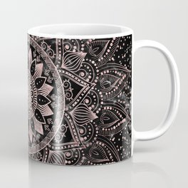 Elegant rose gold mandala dots and marble artwork Coffee Mug
