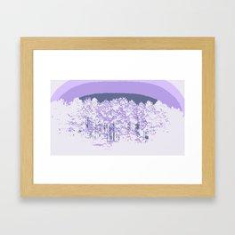 Lavender Mod Trees Framed Art Print