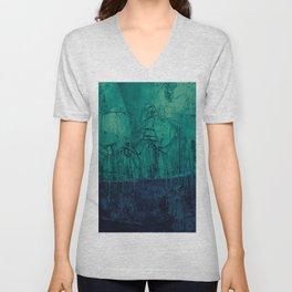 Turquoise blue landscape  Unisex V-Neck