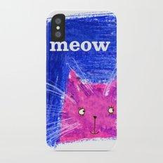 Crayon Cat iPhone X Slim Case