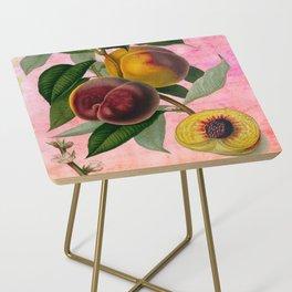 Vintage Botanical Collage, Bradford Peach Side Table