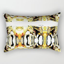 Wild Horses Halftone Rectangular Pillow