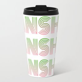 Banshee x3 - Green/Pink Ombre Travel Mug