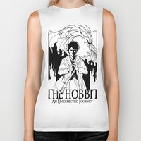 hobbit Biker Tanks featuring The Hobbit by LinhBR