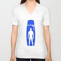 prometheus V-neck T-shirts featuring Prometheus by Alan Coughlan
