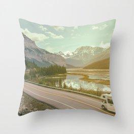 scenic road Throw Pillow