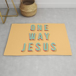 ONE WAY JESUS Rug