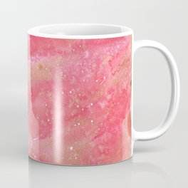 Abstract Watercolor red and gold Coffee Mug