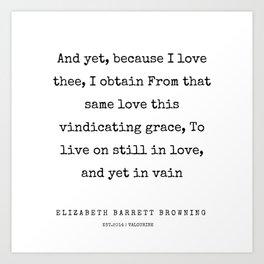27       | 200210 | Elizabeth Barrett Browning Quotes Art Print