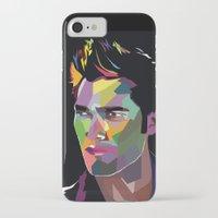 derek hale iPhone & iPod Cases featuring Derek Hale Mosaic Portrait by Liz Swezey