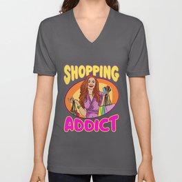 Shopping Addict Unisex V-Neck