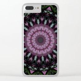 Rose And Jade Geometric Mandala Pattern Clear iPhone Case