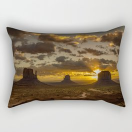 Monument Valley - Vivid Sunrise Rectangular Pillow