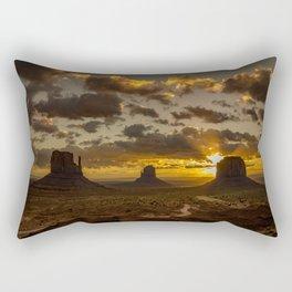 Monument Valley - Vivid Sunrise Rectangular Pillow