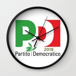 Partito Decocratico 2018 Wall Clock