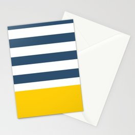 Navy and yellow stripes Stationery Cards