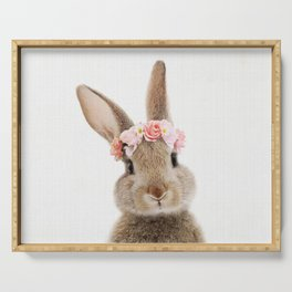 Rabbit with Flower Crown Serving Tray