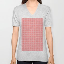 woven cables, pink Unisex V-Neck
