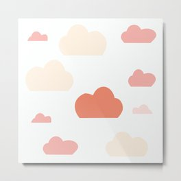 Cloud white and pink Metal Print