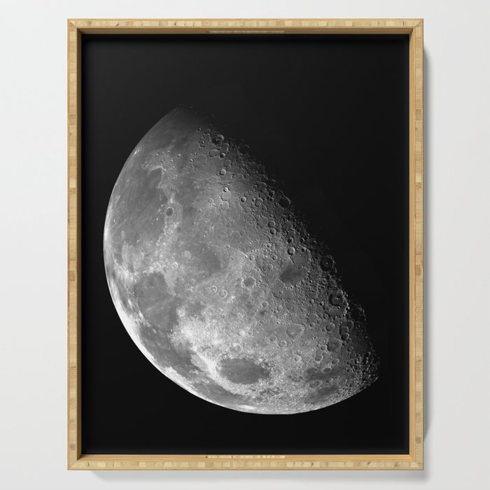 The Moon Black & White Serving Tray