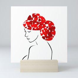 Love in my hair Mini Art Print