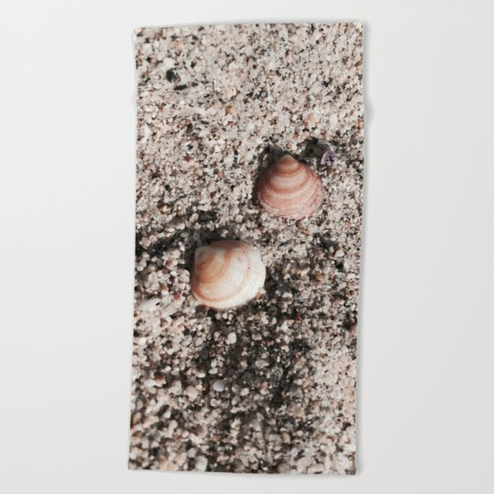 Shells and Sand Beach Towel