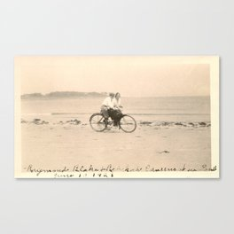 Love on a Bicycle Canvas Print