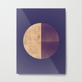 Black and Gold Circle 42 Metal Print