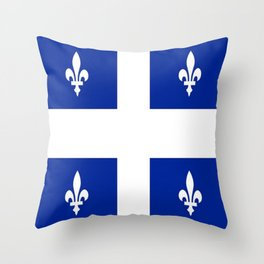 Flag of Quebec Throw Pillow