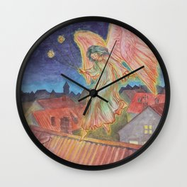 Good Night Angel Wall Clock