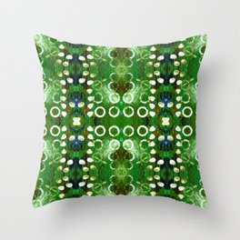 Abstract green background. Symmetric seamless pattern Throw Pillow