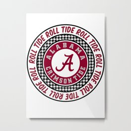 Alabama University Roll Tide Crimson Tide Metal Print
