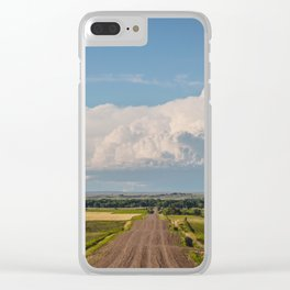 Summer Roads, Glasgow, Montana 4 Clear iPhone Case