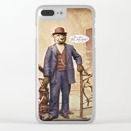 """One Cool Cat: """"Well . . . Hello, kitties!"""" Clear iPhone Case"""