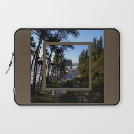 awesome ruby beach, wa (2x square) Laptop Sleeve